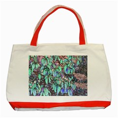 Colored Pencil Tree Leaves Drawing Classic Tote Bag (Red)