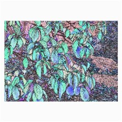 Colored Pencil Tree Leaves Drawing Glasses Cloth (Large)