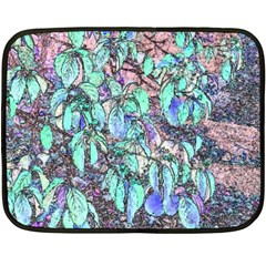 Colored Pencil Tree Leaves Drawing Mini Fleece Blanket (Two Sided)
