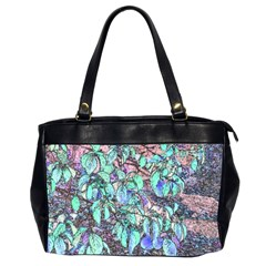 Colored Pencil Tree Leaves Drawing Oversize Office Handbag (two Sides)