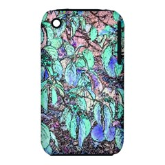 Colored Pencil Tree Leaves Drawing Apple iPhone 3G/3GS Hardshell Case (PC+Silicone)