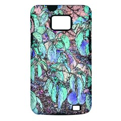 Colored Pencil Tree Leaves Drawing Samsung Galaxy S II i9100 Hardshell Case (PC+Silicone)