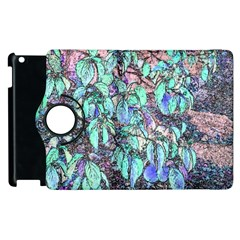 Colored Pencil Tree Leaves Drawing Apple iPad 3/4 Flip 360 Case