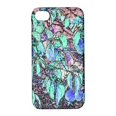 Colored Pencil Tree Leaves Drawing Apple Iphone 4/4s Hardshell Case With Stand