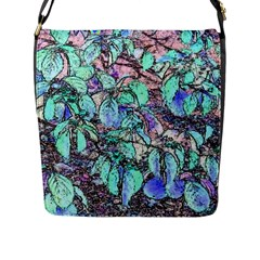 Colored Pencil Tree Leaves Drawing Flap Closure Messenger Bag (Large)
