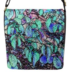 Colored Pencil Tree Leaves Drawing Flap Closure Messenger Bag (small)