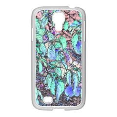 Colored Pencil Tree Leaves Drawing Samsung GALAXY S4 I9500/ I9505 Case (White)