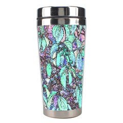Colored Pencil Tree Leaves Drawing Stainless Steel Travel Tumbler