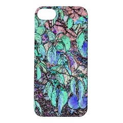 Colored Pencil Tree Leaves Drawing Apple iPhone 5S Hardshell Case