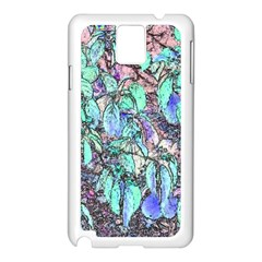 Colored Pencil Tree Leaves Drawing Samsung Galaxy Note 3 N9005 Case (White)