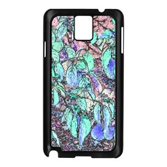 Colored Pencil Tree Leaves Drawing Samsung Galaxy Note 3 N9005 Case (black)