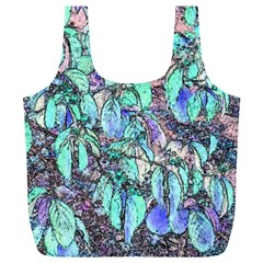 Colored Pencil Tree Leaves Drawing Reusable Bag (XL)