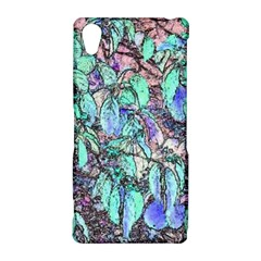 Colored Pencil Tree Leaves Drawing Sony Xperia Z2 Hardshell Case