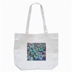 Colored Pencil Tree Leaves Drawing Tote Bag (White)
