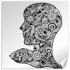 Abstract Face Canvas 12  x 12  (Unframed)