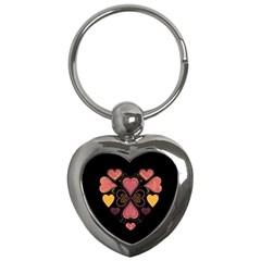 Love Collage Key Chain (heart)