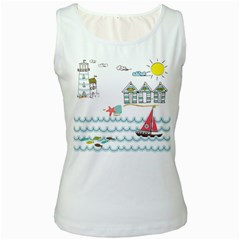 Summer Holiday Women s Tank Top (white)