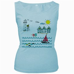 Summer Holiday Women s Tank Top (baby Blue)