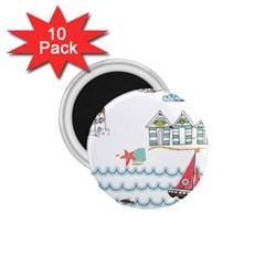Summer Holiday 1 75  Button Magnet (10 Pack)