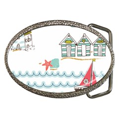 Summer Holiday Belt Buckle (Oval)