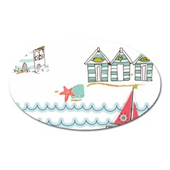 Summer Holiday Magnet (Oval)