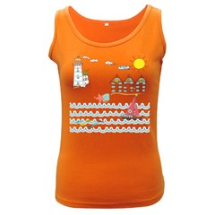 Summer Holiday Women s Tank Top (dark Colored)