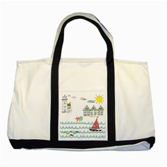 Summer Holiday Two Toned Tote Bag