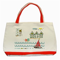 Summer Holiday Classic Tote Bag (Red)
