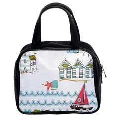Summer Holiday Classic Handbag (two Sides)