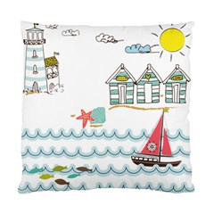 Summer Holiday Cushion Case (two Sided)