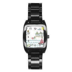 Summer Holiday Stainless Steel Barrel Watch