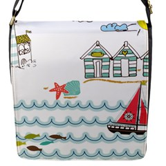 Summer Holiday Flap Closure Messenger Bag (Small)
