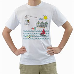 Summer Holiday Men s T-Shirt (White)