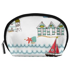 Summer Holiday Accessory Pouch (Large)
