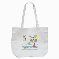 Summer Holiday Tote Bag (white)
