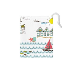 Summer Holiday Drawstring Pouch (Small)