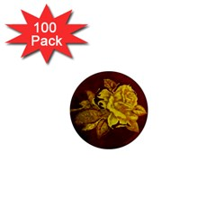 Rose 1  Mini Button Magnet (100 Pack)
