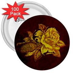 Rose 3  Button (100 Pack)