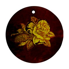 Rose Round Ornament (two Sides)