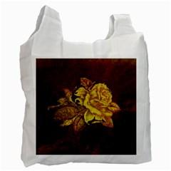 Rose White Reusable Bag (one Side)