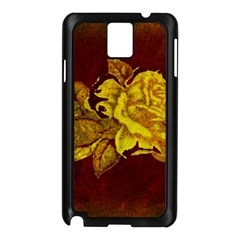 Rose Samsung Galaxy Note 3 N9005 Case (Black)
