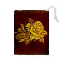 Rose Drawstring Pouch (Large)