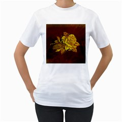 Rose Women s T-Shirt (White)
