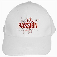 Passion and Lust Grunge Design White Baseball Cap