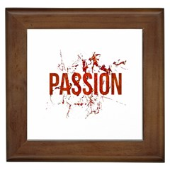 Passion And Lust Grunge Design Framed Ceramic Tile