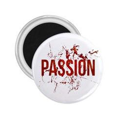 Passion and Lust Grunge Design 2.25  Button Magnet