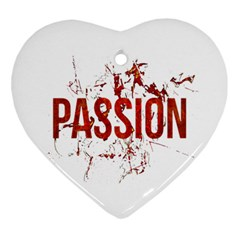 Passion and Lust Grunge Design Heart Ornament