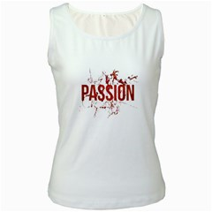 Passion And Lust Grunge Design Women s Tank Top (white)