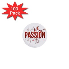 Passion And Lust Grunge Design 1  Mini Button (100 Pack)