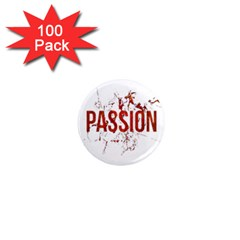 Passion and Lust Grunge Design 1  Mini Button Magnet (100 pack)